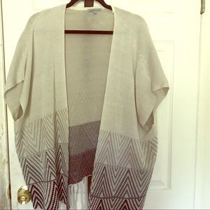 Gray cardigan with tassels